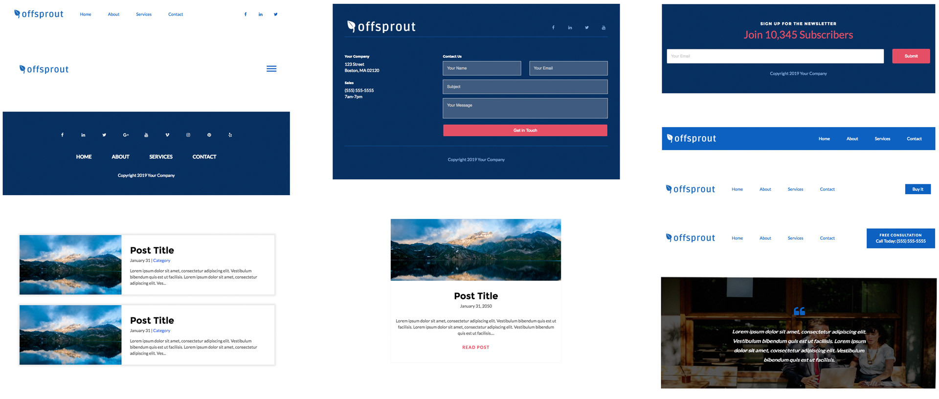 Offsprout's WordPress Theme Builder Templates