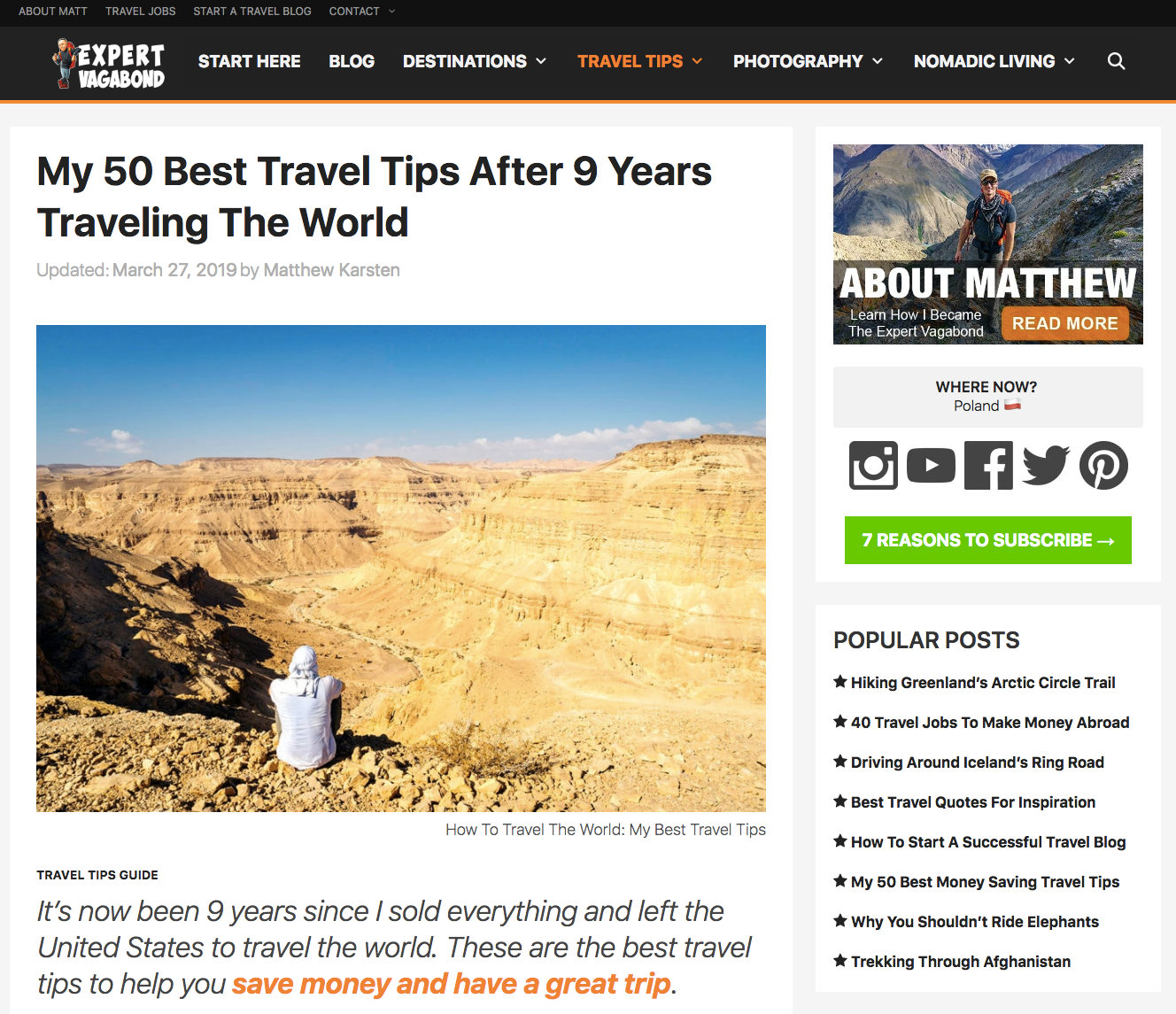 17 Best Travel Blog Website Designs (2019)